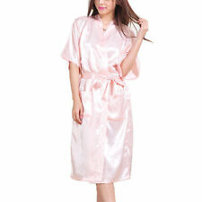 Sexy Women Long Silk Kimono Dressing Gown Bath Robe Babydoll Lingerie Nightdress