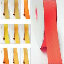 "5 Yards Grosgrain Ribbon 3/8"" /9mm Yellow-Orange for Crafts"