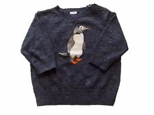 NWT Boy's Gymboree Sweater Weather penguin blue sweater 6 12 18 24 months 2T