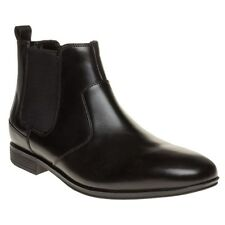 New Mens Rockport Black Style Connected Chelsea Leather Boots Elasticated Pull