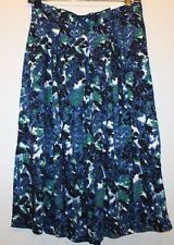 "Gap NWT Women's S M Navy Blue Multi Floral 100% Viscose Full Skirt - 27"" Long"