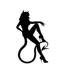 Decal Vinyl Truck Car Sticker - Sexy Hot Women Girl Adult Pinup Devil v3