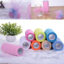 8 colours Tulle Roll Spool Tutu Wedding Craft Party Bow Decoration 6 in x 25 yd