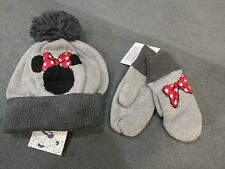 NWT Baby Gap 2 pc Disney Minnie Mouse PomPom HAT & MITTEN SET or MITTENS M/L