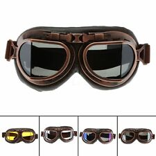 Steampunk Copper Frame Motorcycle Goggles Cruiser Helmet Anti Dust Wind Glasses