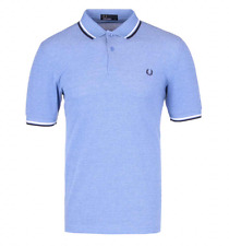 Fred Perry Polo T-Shirt - Prince Blue Oxford - Twin Tipped - M3600 - 661