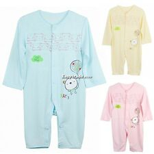 Baby Infant Romper Sleep Jumpsuit Clothing Long Sleeve Coverall 3-12 ESY101