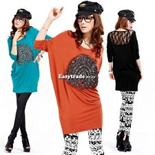 Fashion Women's Girl Loose Sexy Bat-wing Sleeve T-Shirt Blouse Tops 6 ESY