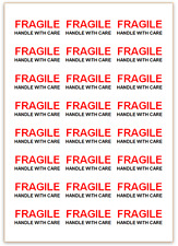 FRAGILE Handle With Care Labels - Self Adhesive - Small, Medium, Large Stickers