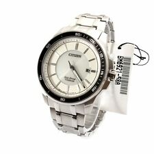 Citizen White ECO-DRIVE Mens Analog Casual Silver Watch BM6921-58A
