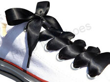Ribbon Shoe Laces For Kids Junior Adults Fits Crystaled Trainers Lo's & Hi Tops