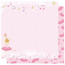 BEST CREATIONS GLITTER DOUBLE SIDED AND DIE CUT SCRAPBOOKING DANCE PAPER