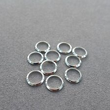 10pcs,7.5,10.5,13.5mm,925 Sterling Silver Soldered Connector,Sprit Ring,Jewelry