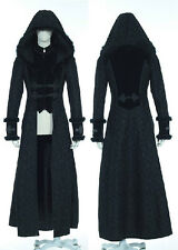 long coat black victorian gothic hooded and pattern vintage RQ-BL