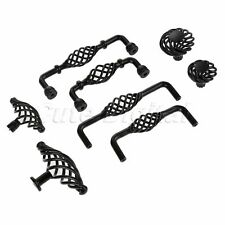 Antique Bird Cage Cabinet Knobs Drawer Closet Door Knob Iron Pull Handles Black