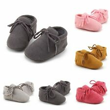 1Pair Baby Soft Sole suede/Leather Shoes Infant Boy Girl Toddler 3Size 11/12/13