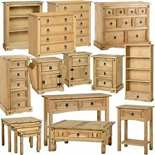 Furniture Oak Effect Pine Bedroom Bedside Cabinet Drawers Dressing Table Chest