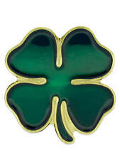 PinMart's Green Four Leaf Clover St. Patricks Day Lapel Pin