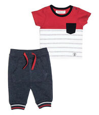 Baby Boys T-shirt & Jogging Bottoms Outfit - Red (0-24 Months)