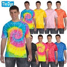 NEW Tie-Dye 5.4 oz 100% Cotton Tie-Dyed Unisex Short Sleeves S-XL T-Shirt CD100