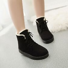 New Fashion Women Round Toe Ankle Boots Shoes Flat With Lace Up Boots EN24H