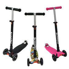 kids 3 Wheel Slider Kick Scooter Skate Foldable kick Drift XQ