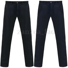 Plus Size Mens Premium Soft Chino Pants Smart Jeans Straight Leg Casual Trousers
