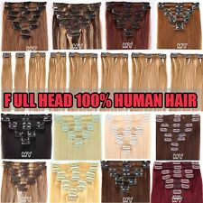 Factory outlets Clip In Extensions Remy Real 100% Human Hair Full Head US II511