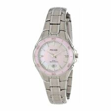 Pulsar Pink  Ladies Analog Casual Silver Watch PXT899 PYR046 PXU036