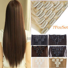 Real Thick Clip In Hair Extensions Straight Full Head Hair Extentions for human