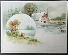 1890s Montana POCKET KNIVE Trade Card MAHER & GROSH CO Summer Wishes Pictorial