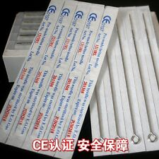 50 pcs Disposable Sterile Tattoo Needles Round Liner Supplies Kits Machine RL
