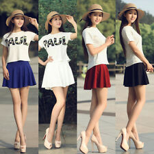 Fashion Women Short Skorts Culottes Invisible Shorts Tiered Mini Pleated Skirts