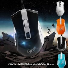 Professional Wired Gaming Mouse 6 Button 2400DPI Optical USB Cable Mouse  JK