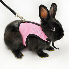 Hamster Rabbit Guinea Pig Rat Ferret Small Pet Breathable Harness Leash Lead OK