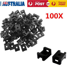 100X Plastic Cable Mount Base Holder Screw Fixing Cable Zip Tie Mount Saddle AU