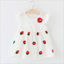 2017 new summer girls  Cotton Dress covered with Strawberry dress children