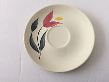 Stetson China STT188 Red Pink Tulip Yellow Flowers, Gray Leaves - TEA CUP SAUCER