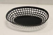 6 EACH - Plastic OVAL FOOD BASKET Fast Food French Fry Sandwich NEW - 3 Colors