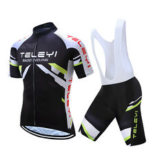 Mens Bicycle Clothing Set Bike Cycle Jersey and (Bib) Shorts Cycling Kit XXS-4XL