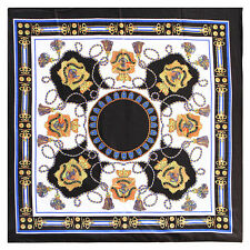 "Women's Scarves Shawl  Black Painting Print Silk-Satin Square Shawl Scarf35""*35"""