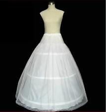 White 3 hoop 1 Layer petticoat Crinoline Underskirt bridal wedding dress Gown