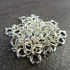925 Steling Silver,5mm Spring Ring With Open Jump Ring,10,20,30,50,100pcs,Italy