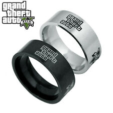 Hot Grand Theft Auto V GTA 5 Stainless Steel Band Ring Fans PS4 PC Rockstar Gift