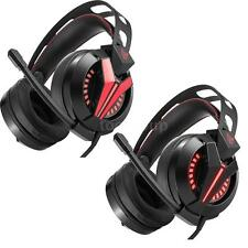 M180 3.5MM STEREO GAMING HEADSET OVER-EAR HEADPHONES VOLUME CONTROL LED+MIC