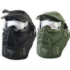 1X Airsoft Tactical Paintball Full Face Mask with Goggles+Neck Protect
