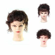 Women's Top Pieces Toupee Hair 100% Human Hair Natural Wavy Curly Hair Extension