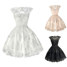Fashion Women Lace Prom Evening Party Cocktail Bridesmaid Wedding Short Dress