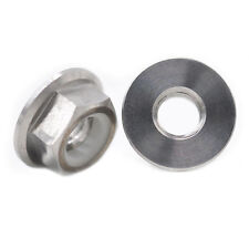 2 Pcs M8 Cycling Motor Bike Gr5 Tc4 Titanium Ti Nylon lock Flange Nuts Fastener