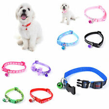 New Fancy Pet Colorful Collar With Small Bell for Pet Cat Dog Adjustable Collar